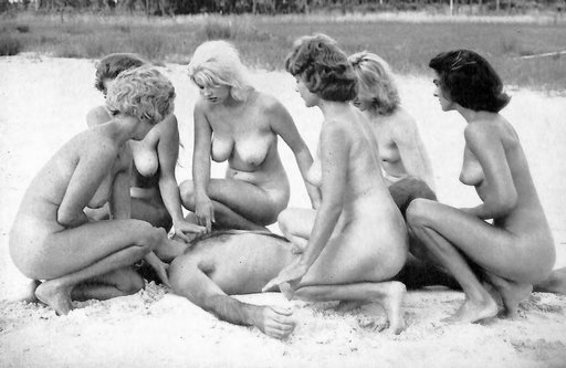 revived by a whole bunch of naked women naturists