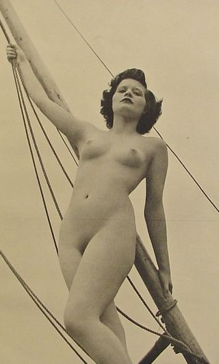 nude woman in the rigging