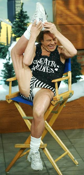 richard simmons showing off his package
