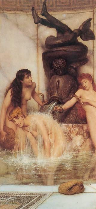 girls washing roman style