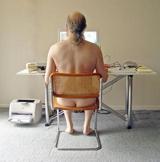sex blog author at work