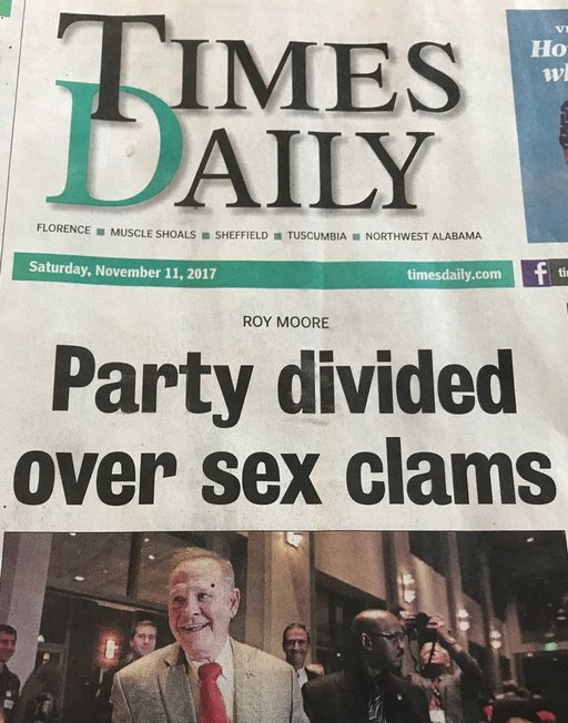 divisive sex clams causing Roy Moore trouble in Alabama