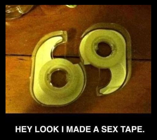 Hey look, I made a sex tape