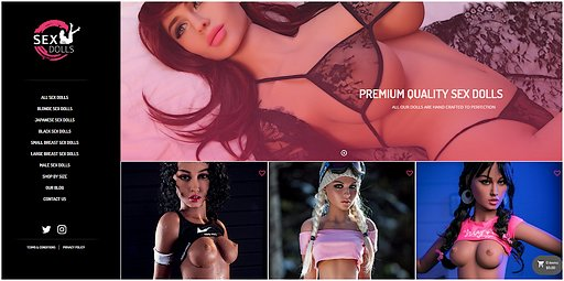 sexdolls.com front page screenshot