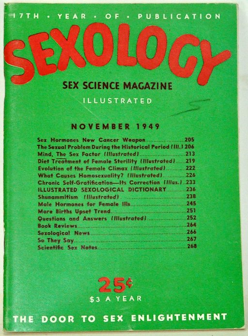 cover, Sexology magazine, 1949