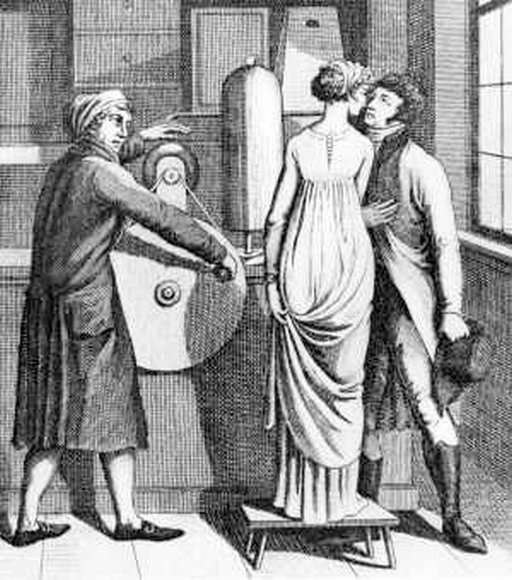 ben franklin and his amazing electric kissing shock machine