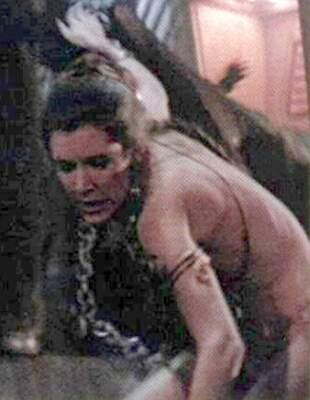 Carrie Fisher as a slavegirl