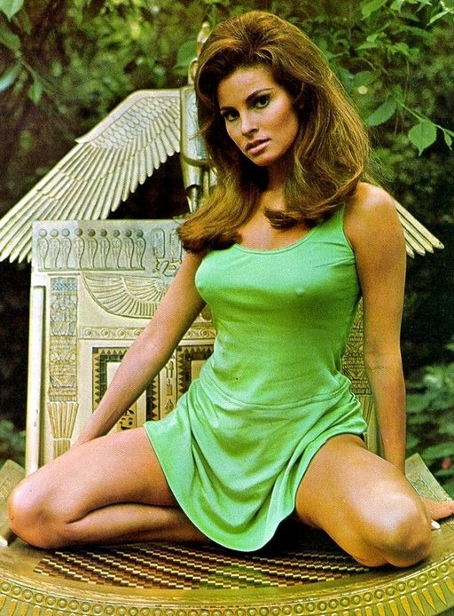 kneeling Raquel Welch