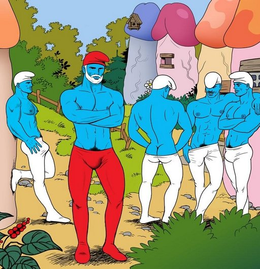 smurfs as gay porn