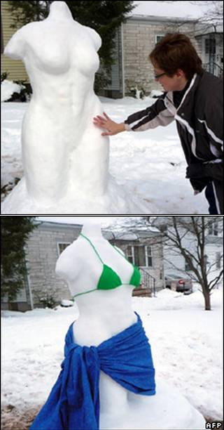 new jersey snow woman