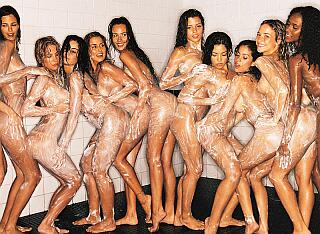 brazilian women's soccer team nude and soapy in the shower