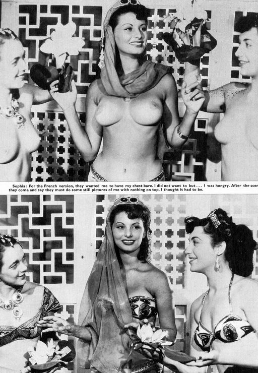 sophia loren topless and describing how she got that way