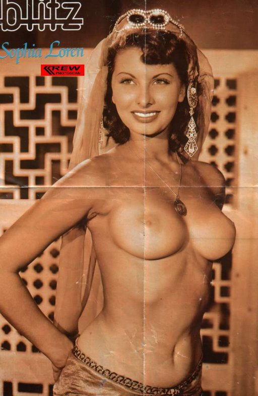 sophia loren nude on a pinup poster