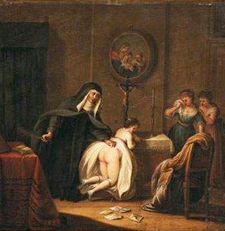 Vintage Erotic Bestiality Art Nun