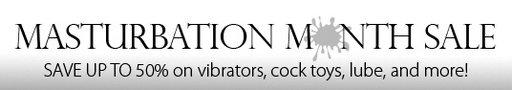 masturbation month stockroom banner