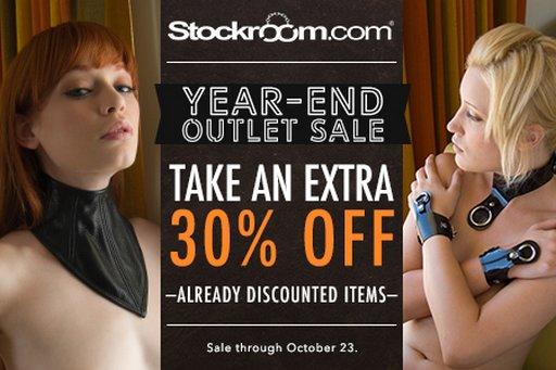 stockroom outlet sale banner