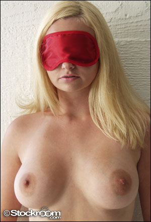 sexy red satin blindfold