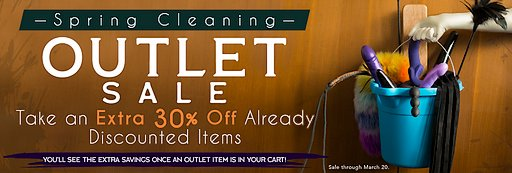outlet sale spring cleaning banner