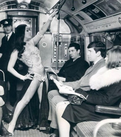 belly dancing on the London underground, 1968