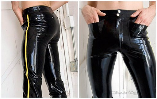 "latex ""blue"" jeans in many colors"