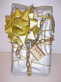 tamper resistant present chained and locked