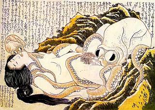 octopus and woman in sexual pose