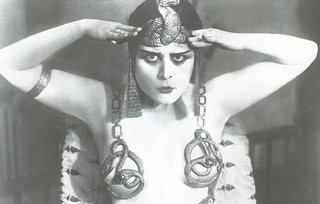 theda bara in an egyptian motif serpent bra