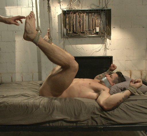 gay bondage foot tickling