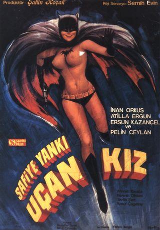 Batgirl nude on Turkish movie poster