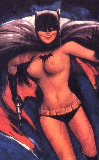 batgirl with bare breasts