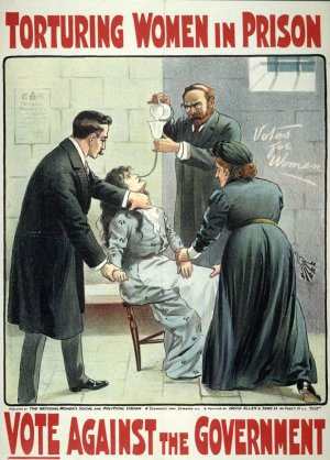 suffragette women being forcefed in jail