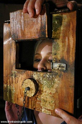 slavegirl in the head box