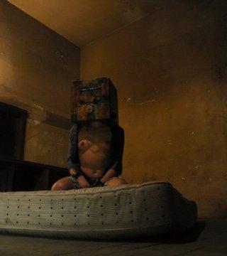 naptime for a boxed slavegirl