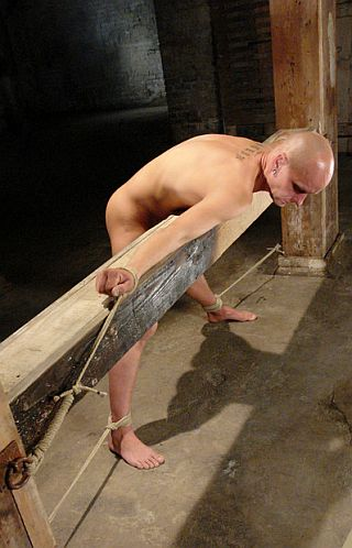 chad all tied up by jesse in some dirty and isolated basement