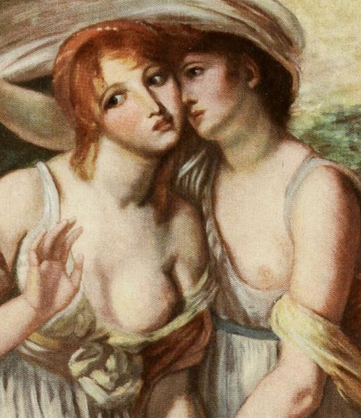 detail from le deux sœurs by Greuze