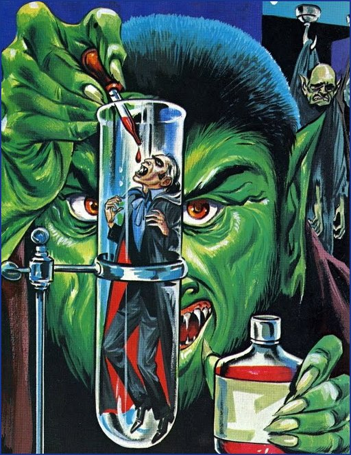 tube vampires artwork credit: cover art for August 1970 edition of Witches Tales magazine