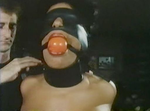 vanessa del rio wearing a ball gag and blindfold