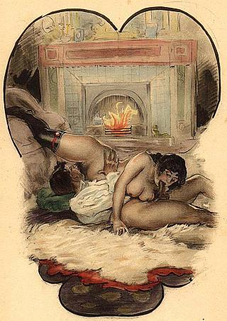 erotic valentine vintage art