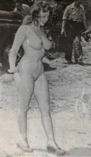 vintage nude photo of a girl with big beautiful breasts