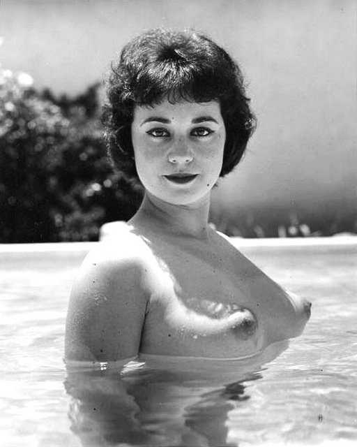vintage nude with perky pointy breasts