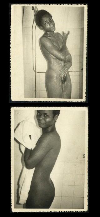 vintage shower scene wallet porn