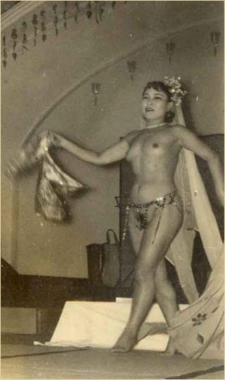 topless dancer 1945