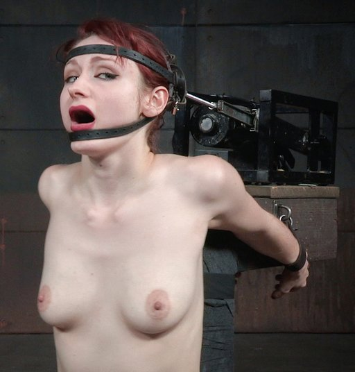 violet monroe strapped into a blowjob machine