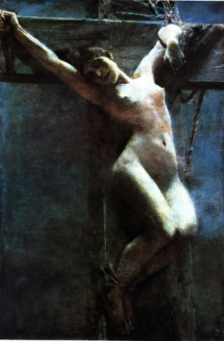 female crucified
