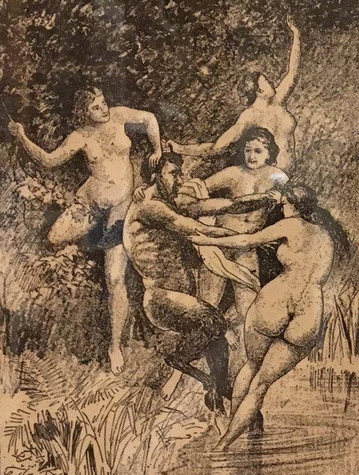 Rendition of Nymphs and Satyrs by E.A. Filleau of Kansas City MO