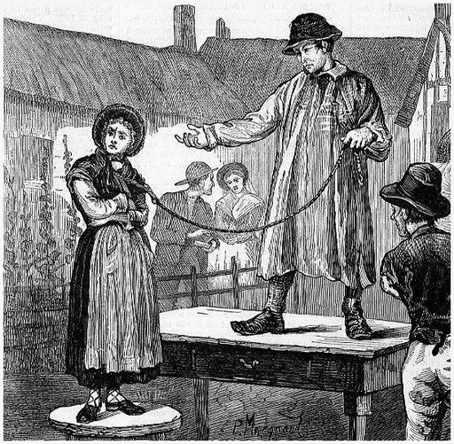 one of the public wife auctions by which Britons would adjust an unhappy marriage when divorce was not an option