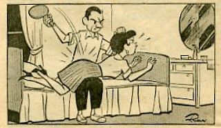 ping-pong paddle spanking cartoon