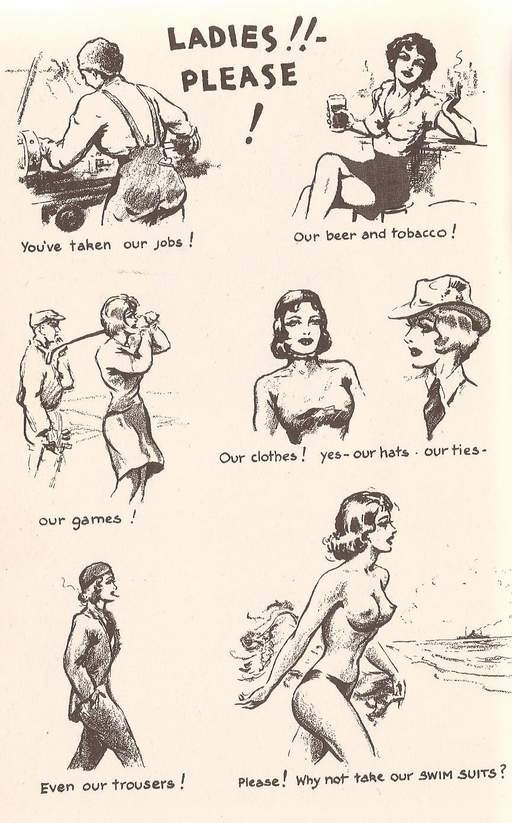 John Willie\'s appeal for unisex topless swimsuits