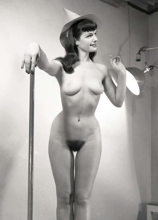 betty page is a very entrancing witch with a well-polished broomstick and an entrancing thigh gap