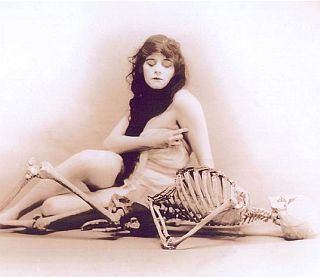 woman with a skeleton again